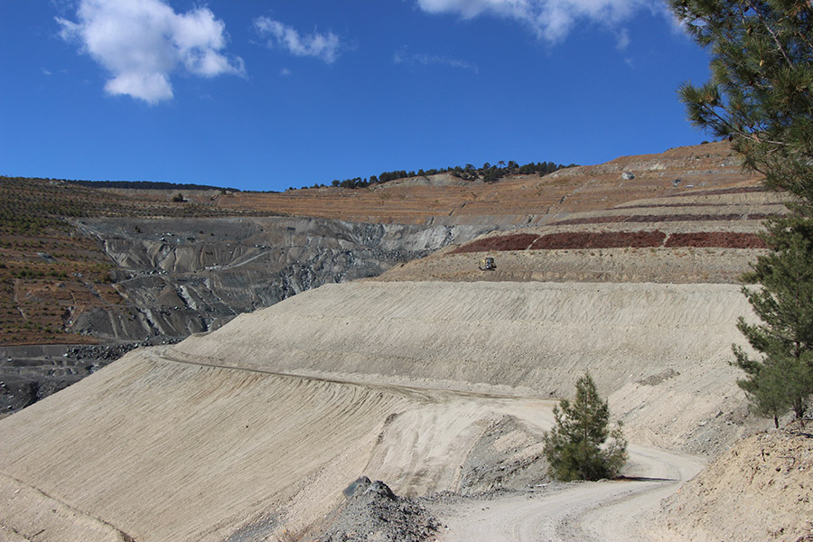 Restoration works in the Amiantos Asbestos Mine during summer and autumn 2015